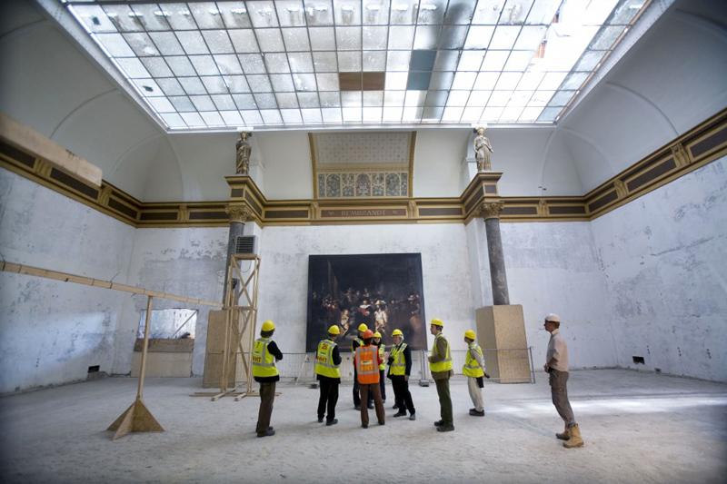 工事中のアムステルダム国立美術館