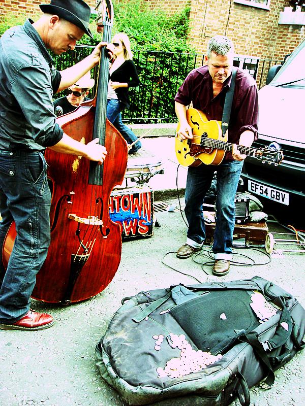 ロンドンで見かけたストリート・ミュージシャン