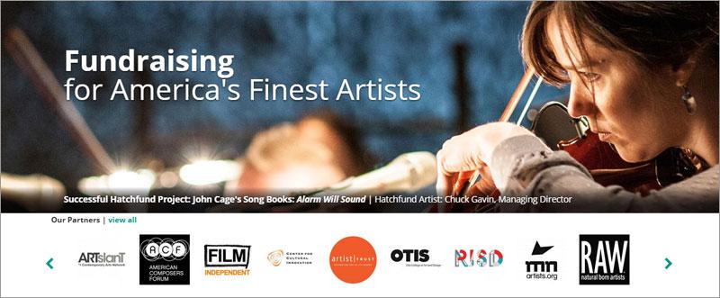 事例 4 で紹介した、現代芸術に特化したクラウド・ファンディング・サイト Hatchfund(元 USA Project)