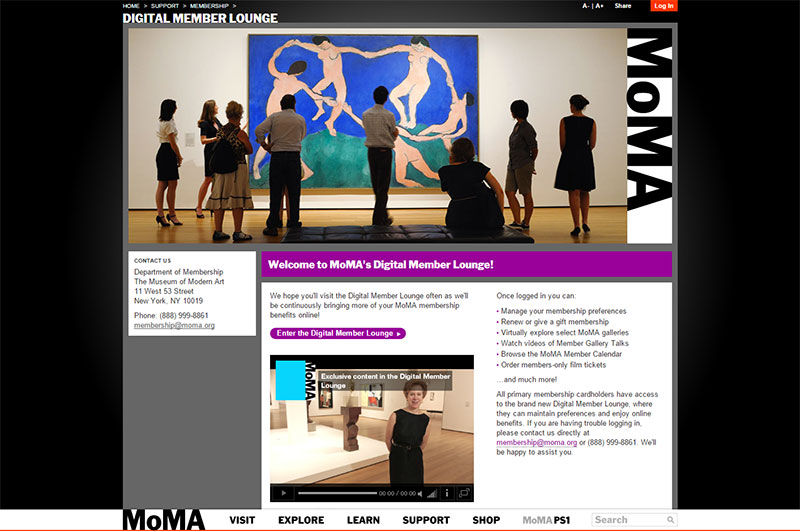 MoMA Digital Member Lounge