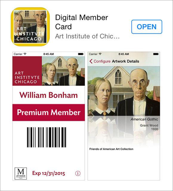 シカゴ美術館の Digital Member Card