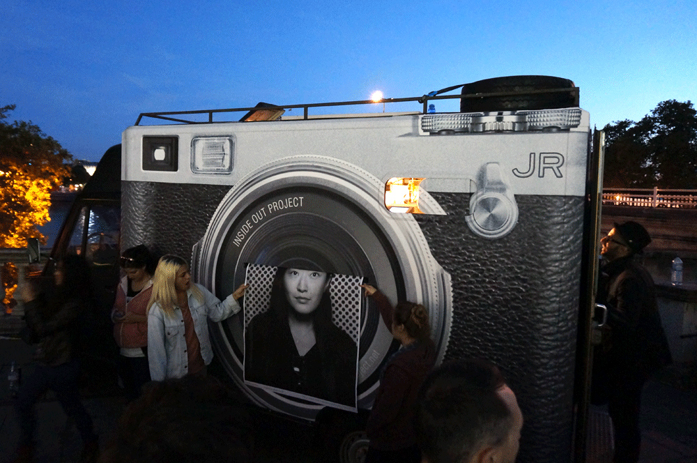 JR's Inside Out Project At Somerset House, London (10.06.2013)
